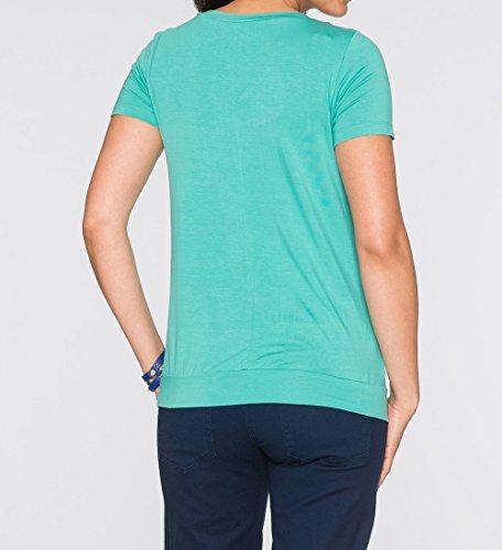 Donne L'Allattamento Unita Tops Maglietta Estivo T Shirts Cime Rotondo Shirt Collo Tumblr Tinta Bluse Multifunzione Larghi Corta per Moda Camicie Casual Verde Freestyle Manica P5wIqx0z0