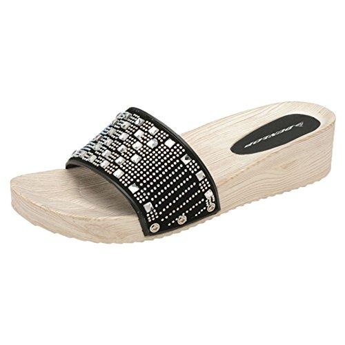 1 noir Femme Mules Mules Dunlop noir Dunlop 1 Femme ww5Tqf0x