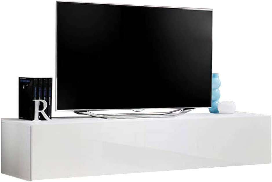 Type-30 MEBLE FURNITURE /& RUGS Fly Modular Wall Mounted Floating 63 TV Stand White