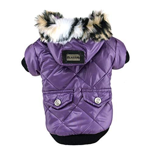 Jim Hugh Dog Coat Faux Pockets Fur Trimmed Dog Hoodies Jacket Small Pet Dogs Puppy Sweatshirts Clothing ()