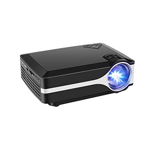 Projector Randemfy Upgraded +10% Lumens 800x480 Native Resolution LED Video Mini Portable Projectors Support 1080P HDMI VGA USB AV SD Card Laptop iPhone Android Smartphone for Home Cinema Theater