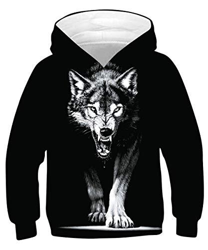 Tuonroad hoodies jongens grappig 3D bedrukte hoodie teenagers lange mouwen winter trui sweatshirt met zakken 6-16T