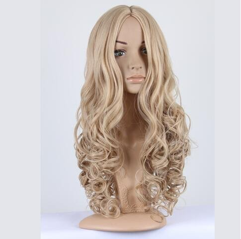 Pirate Customes (YunNaSi Cinderella Wig Halloween Long Wavy Hair Women Cosplay Party Custome Wig Light Golden (Light Golden))