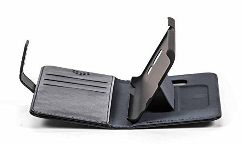 Galaxy S7 Handytasche, Flip-Book-Case, Ständerfunktion, Magnetverschluss, schwarz
