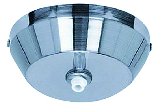 ET2 EC95000-PC RapidJack 1-Light Canopy Pendant Accessory, Polished Chrome Finish, Glass, 25W Max., Dry Safety Rated, 3000K Color Temp., Standard Triac/Lutron or Leviton Dimmable, Stainless Steel Shade Material, 1100 Rated Lumens