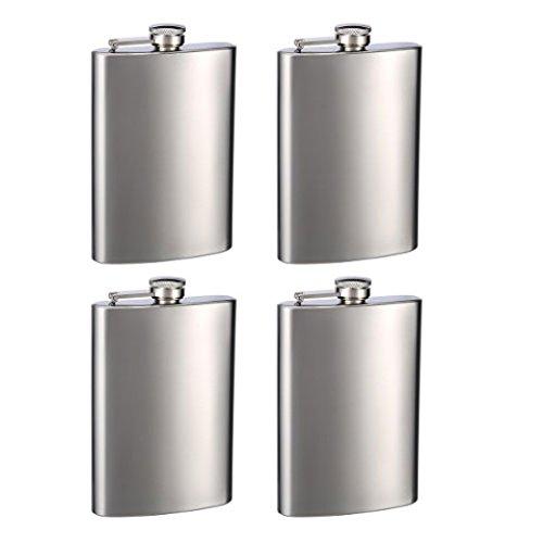 (トップシェルフフラスクス) Top Shelf Flasks彫刻入りヒップフラスク 8オンス用 カスタマイズ可 EN8OZFLASKS B01BYL2IXU