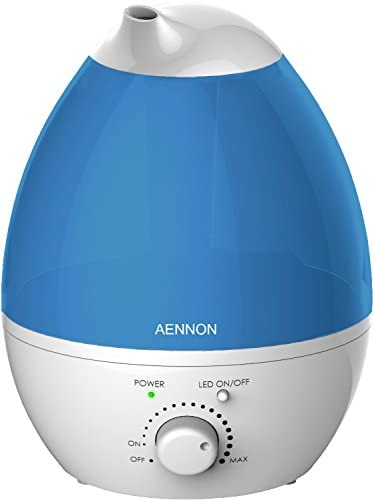 Aennon Cool Mist Humidifier, 2.8L Ultrasonic Humidifiers for 20 Hours Use, Whisper-Quiet, 7 Color LED Lights, Auto Shut-Off for Home Bedroom Baby Room Office