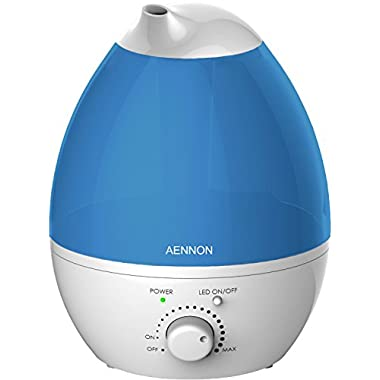 Cool Mist Ultrasonic Humidifier, Whisper-Quiet with 7 Color LED Lights For Home, Baby Room, Bedroom, Office, Personal Whole House Humidifiers Come with 3 Extra Filters & More