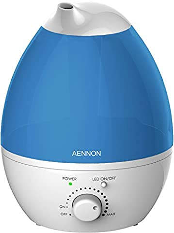 Cool Mist Humidifier, 2.8L Ultrasonic Humidifiers for 10 Hours+ Use, Whisper-Quiet, 7 Color LED Lights, Auto Shut-off For Home Bedroom Baby Room (Baby Humidifier Air Purifier)