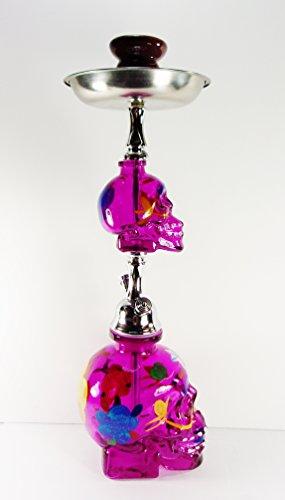 Brand New Zebra Smoke: Cinco De Mayo Skull Hookah Purple Complete Starter Kit 20