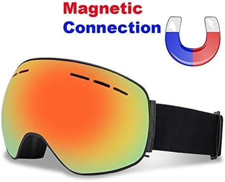 Sportgosto 磁気スキーゴーグルダブルレイヤー防曇UV400スキーメガネ大人の冬のスキースノーボードスケートボードスノーゴーグルスキーマスク (色 : 1)