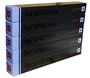 Nespresso OriginalLine - Vivalto Lungo Decaffeinato, 50 Capsules, 5 Sleeves - New Decaf variety - ''NOT compatible with Vertuoline''