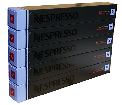 Large Product Image of Nespresso OriginalLine - Vivalto Lungo Decaffeinato, 50 Capsules, 5 Sleeves - New Decaf variety - ''NOT compatible with Vertuoline''