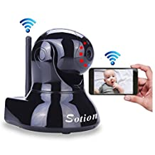 SOTION Super HD Internet WiFi Wireless Network IP Security Surveillance Video Camera System;  Baby, Pet and Nanny Monitor with Pan and Tilt, Two Way Audio & Night Vision