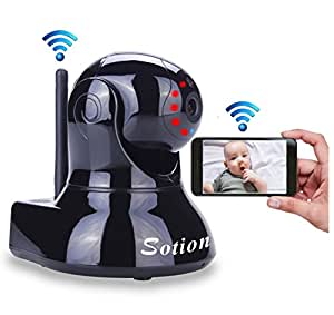 Video Baby Monitor, Pet Camera with Two Way Audio and Night Vision, SOTION HD Wireless Camera for Home Security, Internet IP Surveillance Wifi Camera System with Motion Detection