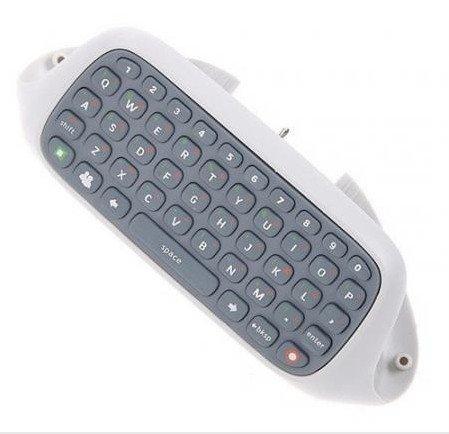 SODIAL(R) White Wireless Keyboard Keypad F XBOX 360 Slim Controller
