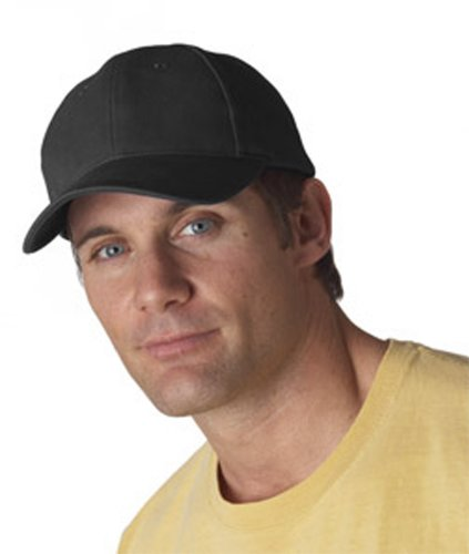 Anvil Classic Solid Pigment-Dyed Twill Cap - Black (Dyed Cap Pigment Twill Solid)