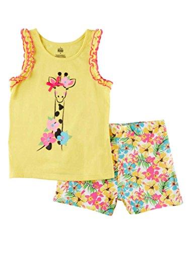 Kids Headquarters Infant Girls Set Giraffe Shirt & Floral Sh