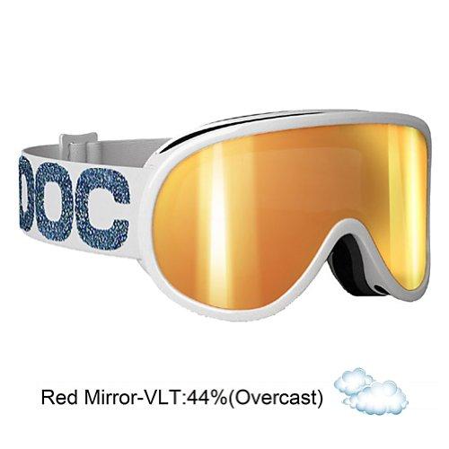 POC Retina Julia Signature Goggles (Metallic White, One Size), Outdoor Stuffs