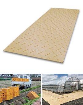 ディバン 厚型(3尺x6尺x15mm)茶色 養生敷板 固定穴4箇所有 B076WZ4WWG 23400
