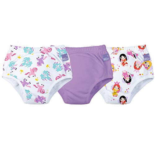 Bambino Mio 3 Piece Potty Training Pants, Mixed Girl Lilac, 2-3 Years