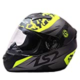 LS2 FF352 AIR FLOW Full Face Helmet with Mercury Visor (Yellow and Black, XL)