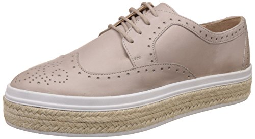Carlton London Ladies Taupe Leather Blucher Casual Shoe Size 5 ()