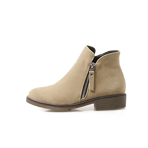 Shoes Beige Toe Heel A AN Bootie Shoes Waterproof Pumps Zip Pumps Novelty Womens Closed Warm Lining Low Manmade amp;N Outdoor DKU01889 Urethane 4xwB1BYq