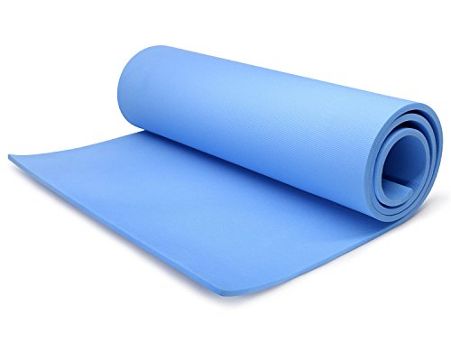 BLUE 68'' x 24'' x 1/4'' (6 mm) X-Thick Mat Pad Non Yoga exercise by Yoga mat