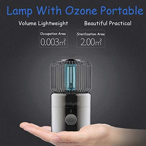 Lámpara de Desinfección de Ozono UV/Lámpara de Germicida Ultravioleta Recargable USB Portátil,Antibacteriana Tasa 99% Purificador de Aire,para Hogar Inodoro Coche Cocina Inodoro