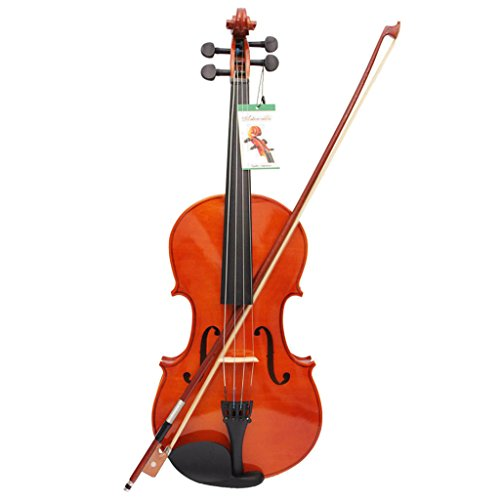 Fenteer Natural Maple Viola w/ Shoulder Rest Pad Strings Cleaning Cloth for Students by Fenteer