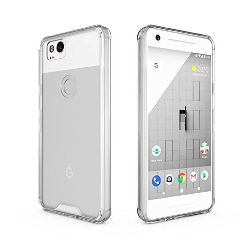 Google Pixel 2 Bumper Case   Olixar Exoshield   Tough Hard Cover With Shock Protection   Clear