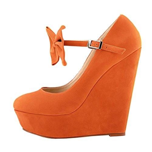 EKS - Zapatos de Tacón Mujer Naranja - naranja