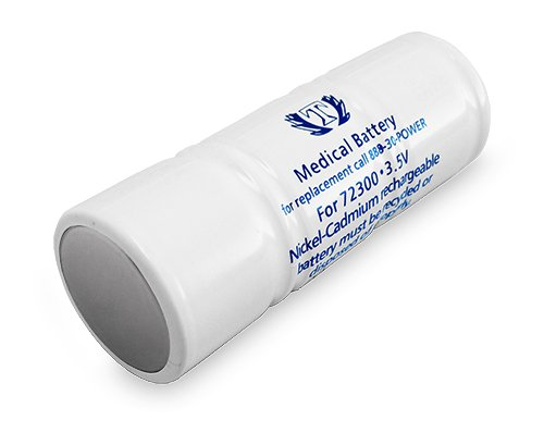 WELCH ALLYN Replacement 3.5V NICAD RECHARGEABLE BATTERY #72300 NEW Tank BRAND (Nicad Welch Battery)