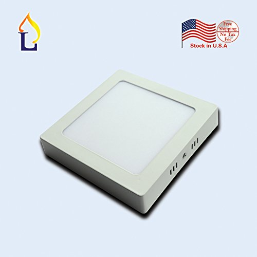 (20 pack) 12W Surface mounted panel light smd2835 square LED Panel down Lamps by JLLEAD