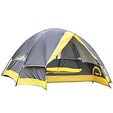 Semoo Water Resistant D-Style Door, 2-Person Camping/Traveling Lightweight Dome Tent with Carry Bag