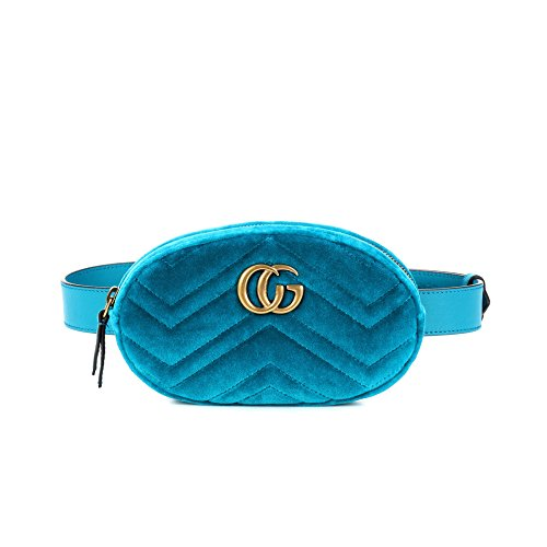 Female Bag Purse Chest Mini Velvetskyblue Oval Velvet Bag Fashion Mobile Pockets PU pRCnqwq