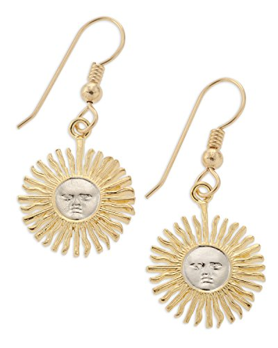 - Sun Face Earrings, Argentina Five Peso Coin Hand Cut