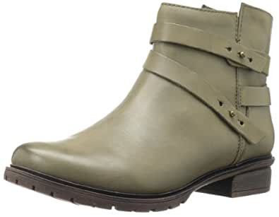 Kenneth Cole REACTION Women's Clo-Ver Bootie,Olive Leather,5.5 M US