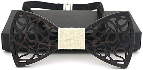 Heqianqian Corbatas de Lazo de Madera Diseño Hueco para Hombre ...