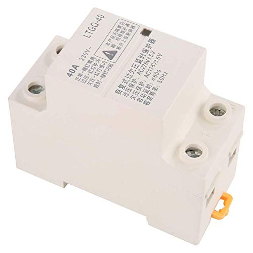 Over & Under Voltage Protection Relay, 2P40A Adjustable Automatic Reconnect Voltage Monitor Controller Relay Module Panel