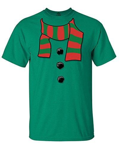 Shop4Ever Snowman Scarf Costume T-Shirt Xmas Shirts Large Kelly17501