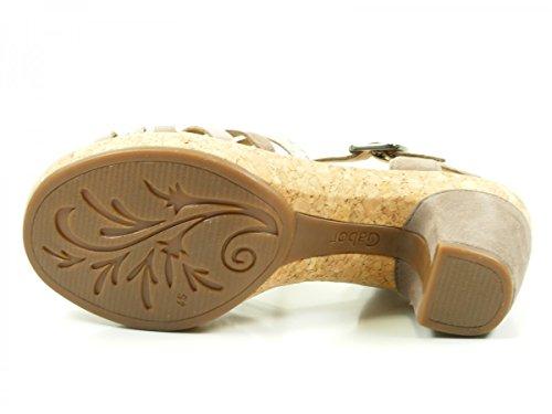 Gabor 62-736 Sandalias fashion de cuero mujer Beige