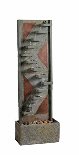 Kenroy Home 51031SLCOP Journey Floor Fountain, Natural Slate