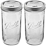 Ball 24 oz Jar, Wide mouth, 24 ounce (Pack of 2),Clear