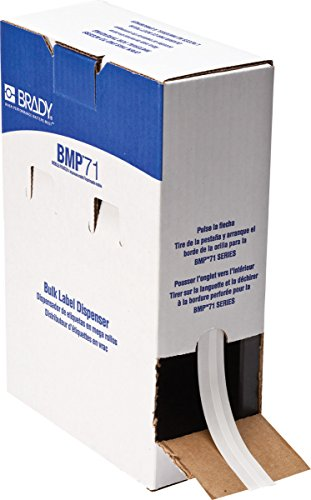 Brady M61C-240-498 BMP61 BMP71 Series CleanLift Repositionable Vinyl Cloth Label Supply, Semi-Gloss Finish, 0.24