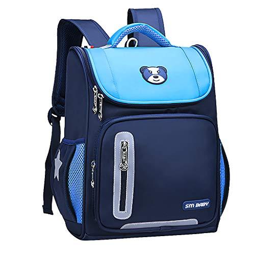 Fitfulvan Children Fashion Large Capacity Cartoon Ementary Schoolbag,Students Kids Travl Backpack With Multi-Pocket (Sky Blue, L)