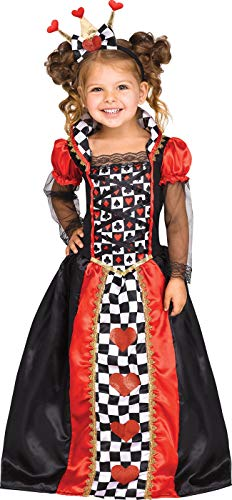 Fun World Queen of Hearts Toddler Costume, X-Large, Multicolor -