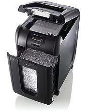 Faites des économies sur Rexel Auto 300X Destructeur de Documents Automatique Coupe Croisée, 300 Feuilles, Pour Petits Bureaux (Jusqu'à 10 Utilisateurs), Corbeille Amovible 40L, Noir, Auto+ 300X, 2103250EU et plus encore