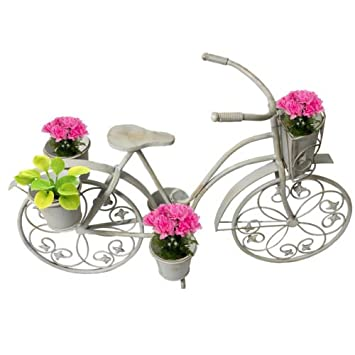 This Decorative Vintage Bicycle Planter Will Add A Whimsical Touch To Any  Garden Or Patio.